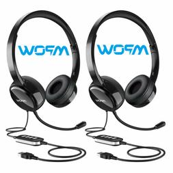 Mpow 071 Headset USB/3.5mm Jack Computer Wired Headphones fo