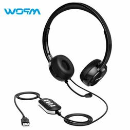 Mpow 071/323 Computer USB/3.5mm Headset Office Call Center W