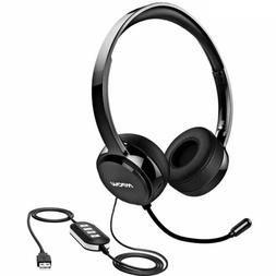 Mpow 071 USB Headset/3.5mm Computer Headset with Microphone