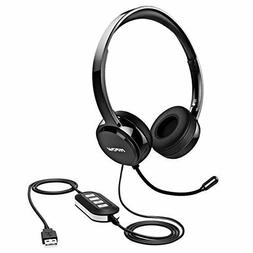 Mpow 071 USB Headset/ 3.5mm Computer Headset with Microphone