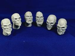 1:6 SCALE ZOMBIE HEAD SET  VARIOUS ZOMBIE HEAD CASTINGS FOR