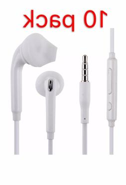 10 Pack Earphone Headset Headphone Control With Mic Fit Sams