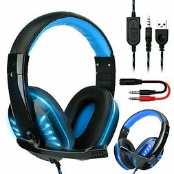 For PS4 Gaming Headset Xbox One Headphone PC Earphone 3.5mm