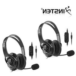 Insten 2 Packs Black Handsfree Gaming Gamer Headset with Boo