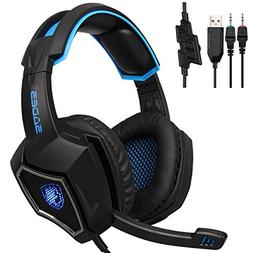 Sades SPIRITWOLF 3.5mm Version PC Over-Ear Stereo Gaming Hea