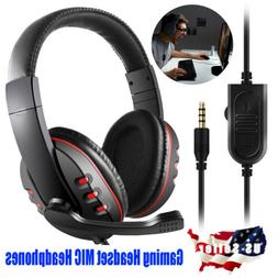 3.5mm Gaming Headset MIC Headphones Stereo for Laptop PS4 Xb