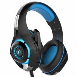 3.5mm Gaming Headset MIC LED Headphones Surround for PC Mac