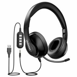 Mpow USB/3.5mm Stereo Business Headset Wired Headphones with