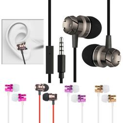 3.5mm Volume Control Hand Free Universal Stereo Earbuds Head