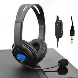 3.5mm Wired Gaming Headphones Over Ear Headset Earphone With