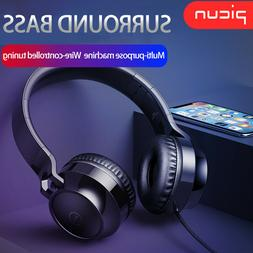3.5mm Wired Headphones Foldable Headset Surround Bass Gaming