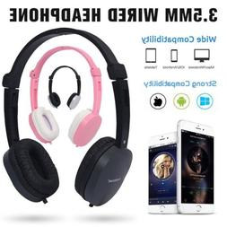 3.5mm Wired Stereo Foldable Headset Headband Headphone For C