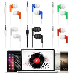 3.5mm Wired Stereo Handsfree Headphone In-Ear Earphone With