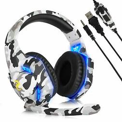 3.5mm Wired Stereo Surround Gaming Headset Headphone Mic for