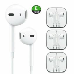3 Pack New Headphones Earphones With Remote & Mic For Apple