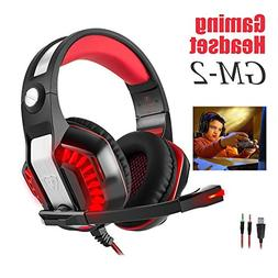 Beexcellent GM-2 Gaming Headset for PS4 Xbox One PC Gaming H