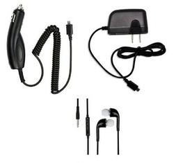 CAR+WALL HOME CHARGER+STEREO HEADSET FOR LG TRIBUTE HD, DYNA