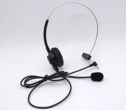 Over-the-Head Band 2.5mm Headset for Panasonic Office Home C
