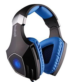Sades Spellond Braided Fiber Wired Gaming Headset with 7.1 V