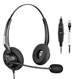 Arama A200S Corded Telephone Headset with Noise-Canceling Mi