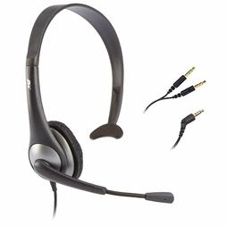 Cyber Acoustics AC-104 Over the Head Headset with Mic