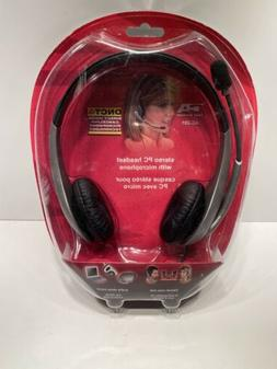 AC-201 Cyber Acoustics Stereo Headset, With Microphone DNCT4