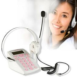 Call Center Telephone with Hands Free Headset Corded Phone B