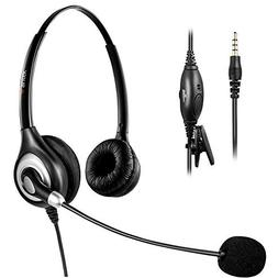 Arama Cell Phone Headset, 3.5mm Phone Headset With Noise Can