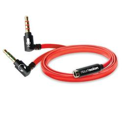 NoiseHush AS14 Headset to PC Adapter Flat Red Cable with Gol