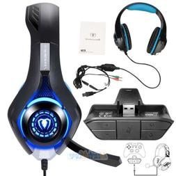 Audio Game Headset Headphone Stereo Adapter For Microsoft Xb