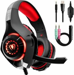 Beexcellent Stereo Gaming Headset for Xbox, PC, Mac...LED Li