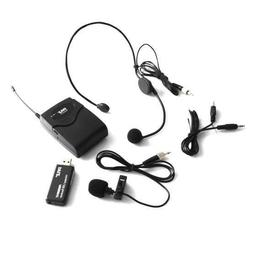 Pyle Belt Pack Microphone System w Wireless USB Receiver Hea