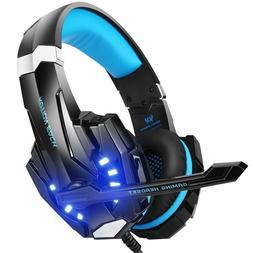 BENGOO G9000 Gaming Headset, Noise Cancelling Over w/Mic,LED
