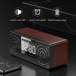 Bluetooth Speaker Loud FM Stereo Sound TF Card&Time Display
