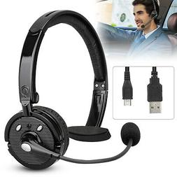 Bluetooth Wireless Noise Cancelling Clear Single Headset For