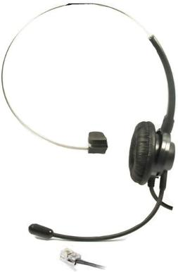 Call Center Hands-Free Headset + Adjustable Volume + Mute Co