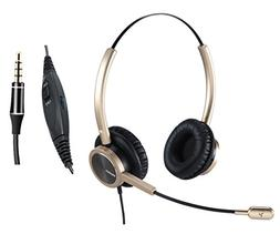 Cell Phone Headset with Nosie Cancelling Microphone 3.5mm Ja