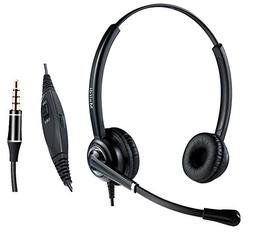 Cell Phone Headset with Nosie Cancelling Mic 3.5mm Jack for