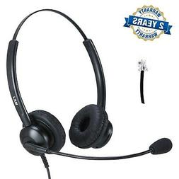 Cisco Headset Dual Ear Landline Headset with Microphone for