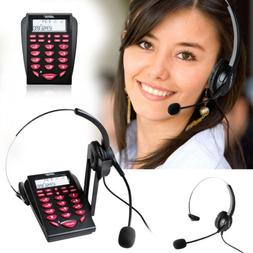 LCD Display New Office Telephone With Corded Headset Call Ce