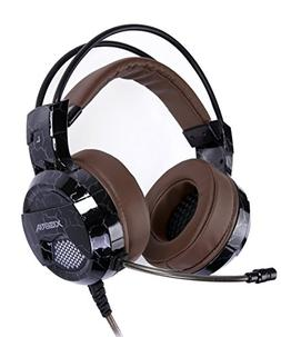 XIBERIA E1 USB Gaming Headset with Microphone,Over Ear Wired