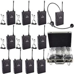 EXMAX EX-938 Wireless Headset Microphone Audio Tour Guide Sy