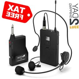 Fifine Wireless Lavalier Lapel Microphone System with Headse