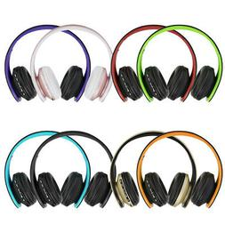 Foldable Bluetooth Wireless Headphones Over Ear Headset with