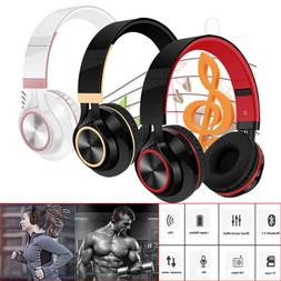 Foldable Headphones Stereo Wireless Bluetooth Headset With M