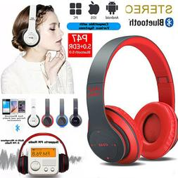Foldable Over-Ear Wireless Headphones Bluetooth Stereo Bass