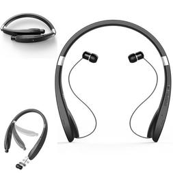 Foldable Wireless Bluetooth Headset Neck Band Headphone Spor