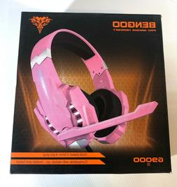 BENGOO G9000 PINK Stereo Gaming Headset  PS4 - PC - Xbox One