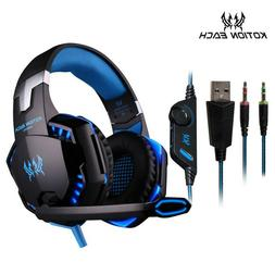 Gaming Earphone Headset Wired Gamer Computer PC Laptop Acces