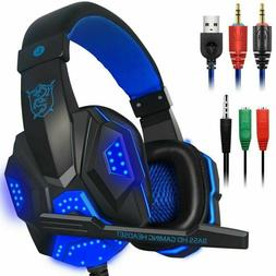 Gaming Headphones Bluetooth Usb 3.5Mm Aux For Pc Laptop Ps4